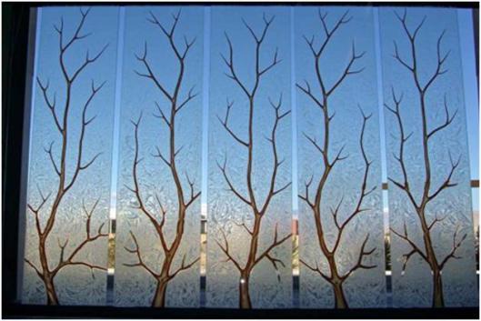 Vách kính nghệ thuật - Xu hướng trang trí mới 1