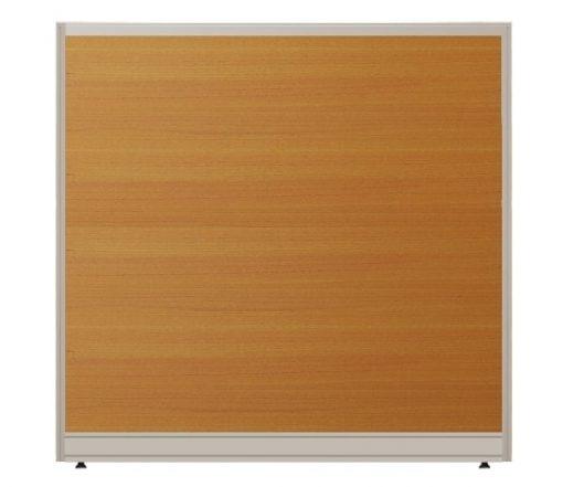 Vách ngăn khung nhôm ốp gỗ nội thất fami có hộp kỹ thuật V32KT