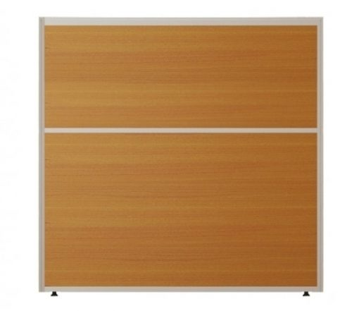 Vách ngăn khung nhôm bọc gỗ kính nội thất fami VV60