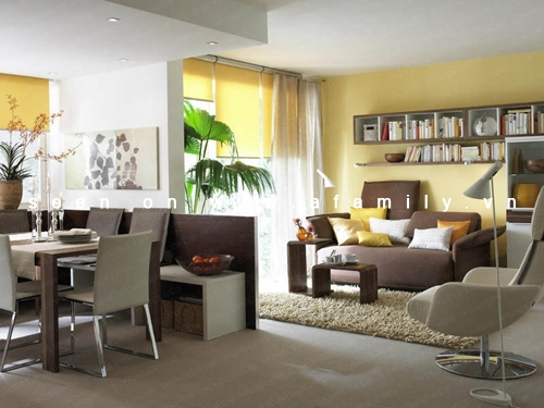 Vách ngăn thạch cao phân vùng phòng khách