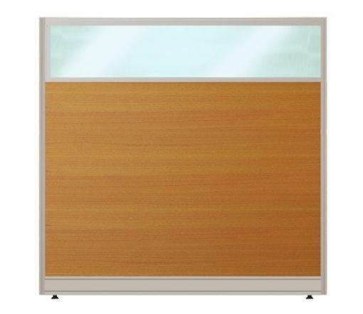 Vách ngăn nội thất fami khung nhôm bọc gỗ kính VK60KT