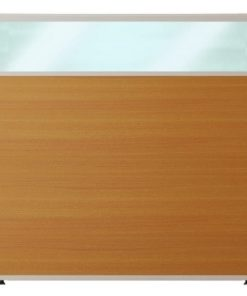 Vách ngăn khung nhôm bọc gỗ kính nội thất fami VK60