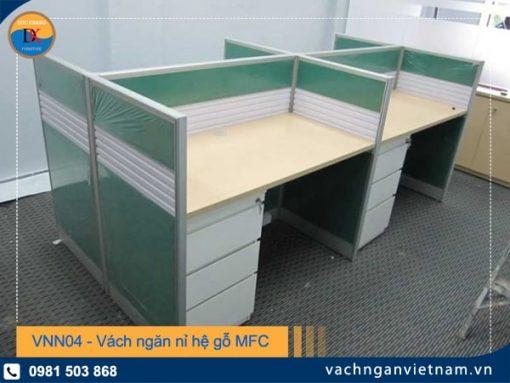 VNN04 - Vách ngăn nỉ hệ gỗ MFC