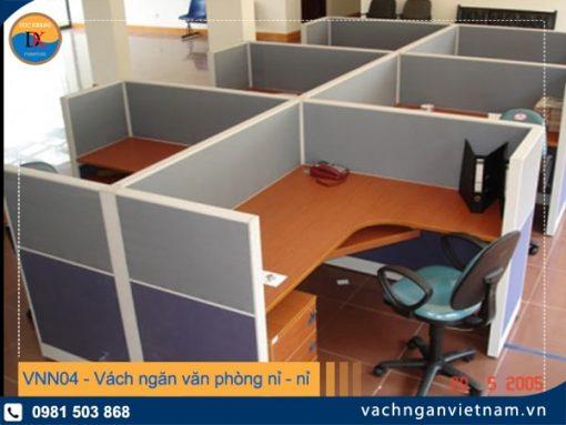 VNN04 vách ngăn văn phòng nỉ - nỉ