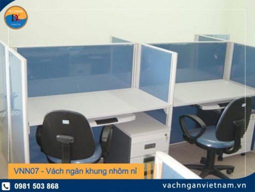 VNN07 - Vách ngăn khung nhôm nỉ lửng