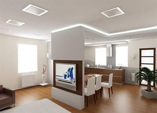 Sử dụng vách ngăn thạch cao cho nhà đẹp 1