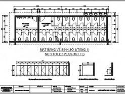 Bản vẽ vách ngăn vệ sinh DK BVCT01