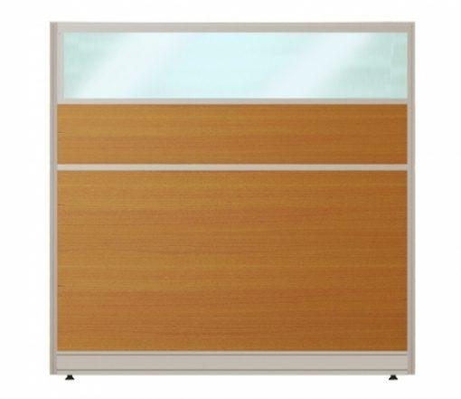 Vách ngăn khung nhôm bọc gỗ kính nội thất fami VVK60KT