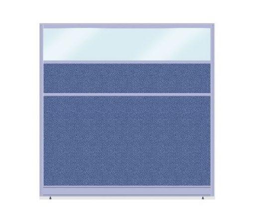 Vách ngăn khung nhôm bọc nỉ kính nội thất fami NNK60KT