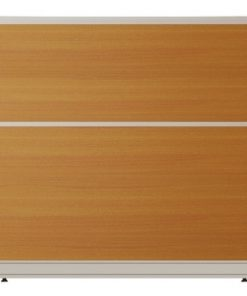 Vách ngăn nội thất fami khung nhôm ốp gỗ VV60KT