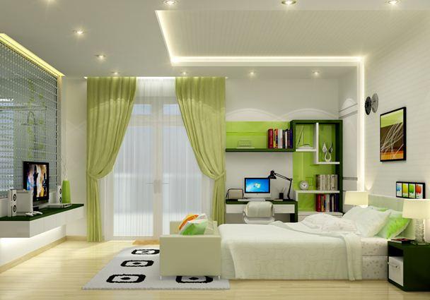 Phong cách thiết kế trần thạch cao cho phòng ngủ