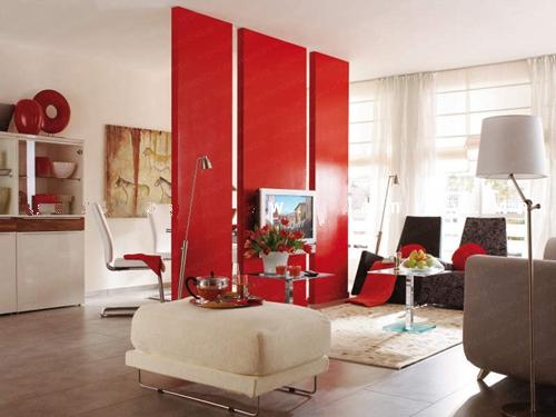 Phân chia không gian phòng khách bằng vách ngăn trang trí 1