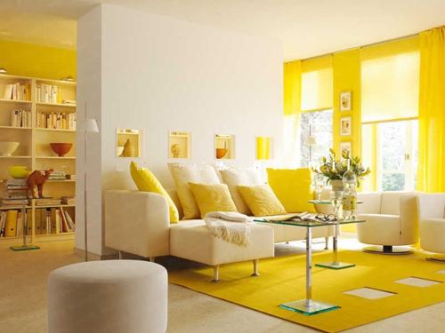 Phân chia không gian phòng khách bằng vách ngăn trang trí 3
