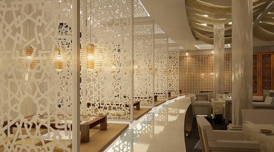 Trang trí không gian quán cafe, nhà hàng với vách ngăn 3