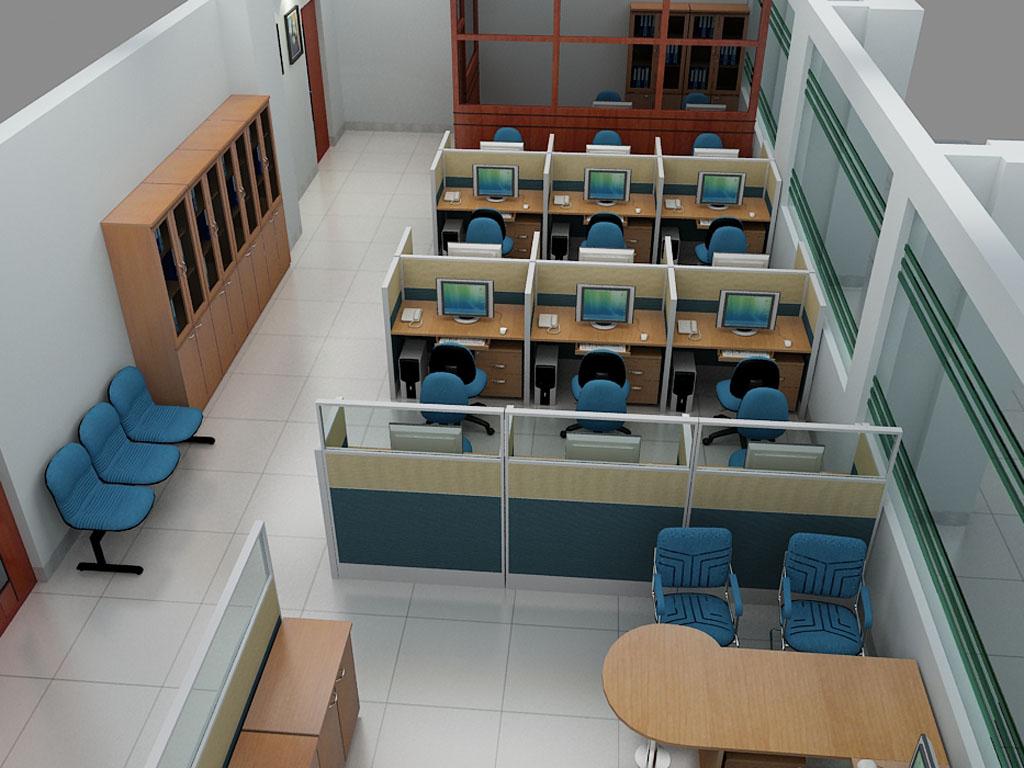 Trang trí nội thất văn phòng với vách ngăn 2