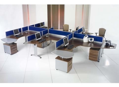 Trang trí nội thất văn phòng với vách ngăn 3