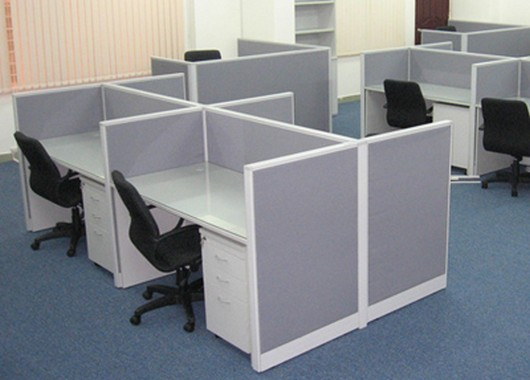 Trang trí nội thất văn phòng với vách ngăn 4