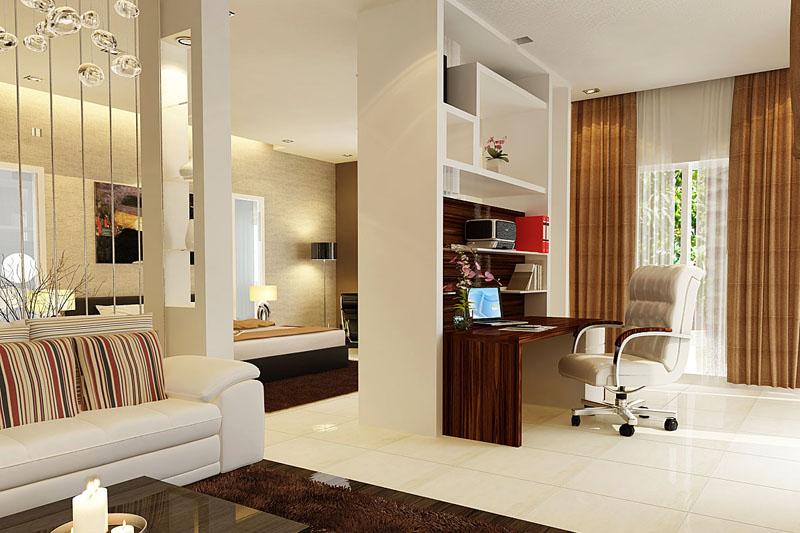 Vách ngăn gỗ nhựa - tận dụng không gian cho phòng ngủ 3