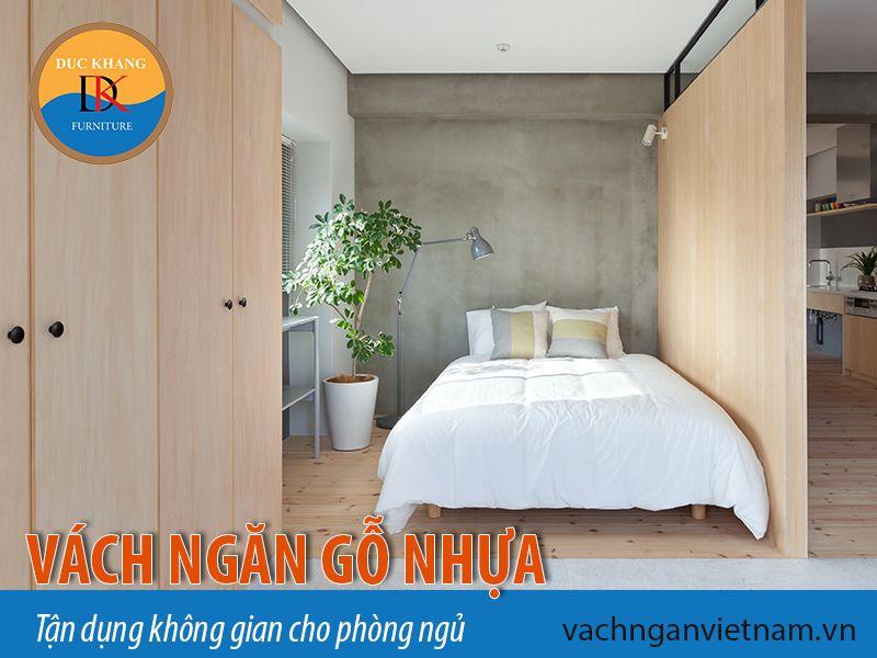 Vách ngăn gỗ nhựa - tận dụng không gian cho phòng ngủ