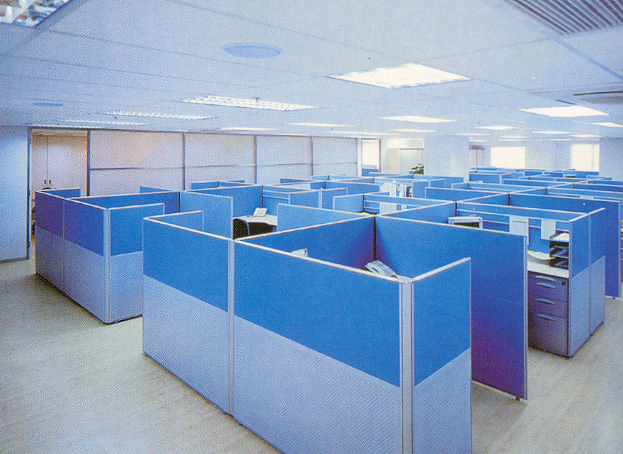 Vách ngăn sặc sỡ tạo nét sinh động cho văn phòng của bạn 2