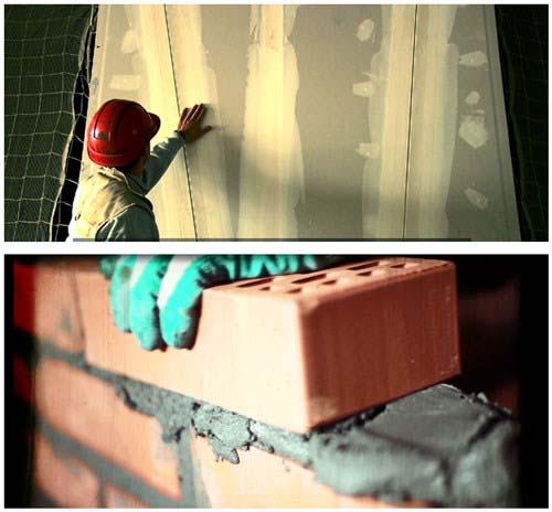 Thời gian thi công nhanh gấp 3 lần tường gạch.