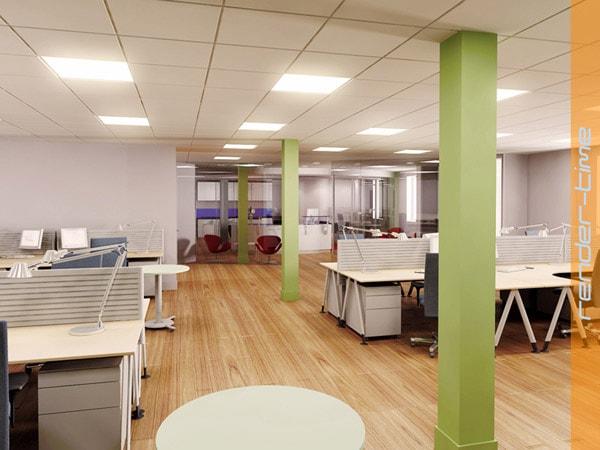 Trần thạch cao xương nổi trần đặc thù cho không văn phòng công sở tại các tòa nhà lớn