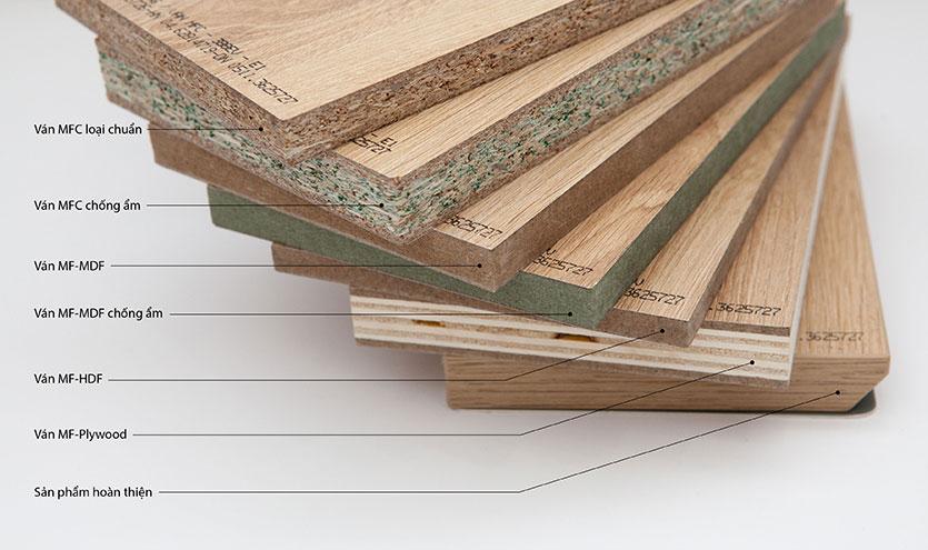 Bảng màu chi tiết - Vách ngăn vệ sinh chống ẩm MFC