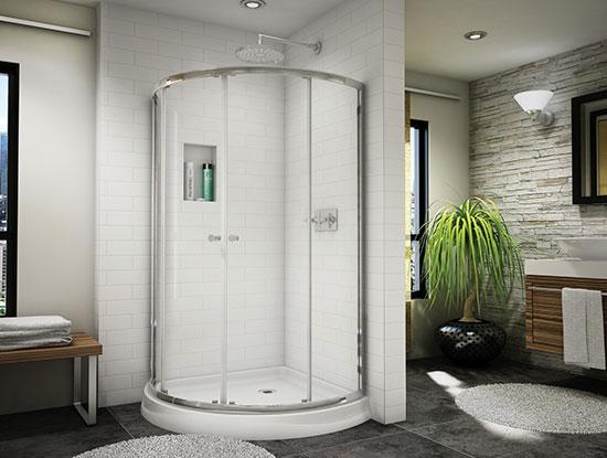 Phòng tắm kính uốn cong