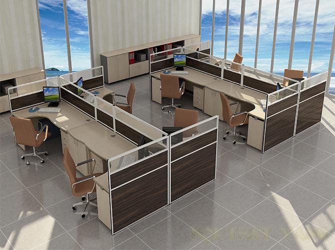 Vách ngăn văn phòng phân chia không gian riêng tư