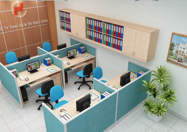 Bài trí nội thất sáng tạo cho văn phòng vừa và nhỏ