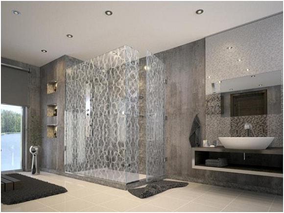 Muốn nhà tắm hiện đại hãy sử dụng vách ngăn kính