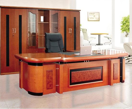 Bộ bàn tủ giám đốc veneer Hòa Phát DT3212VM7, DC3246VM7