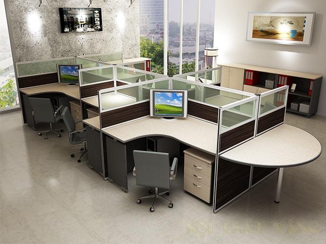 Module bàn làm việc tạo ra không gian bàn làm việc