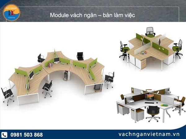 Module bàn làm việc – giải pháp hoàn hảo thay thế bàn làm việc đơn