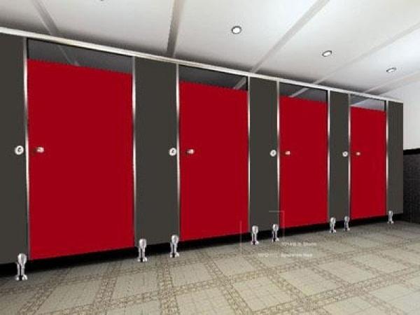 Các loại vách ngăn vệ sinh cho trường học