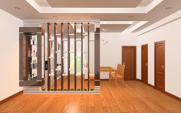 Vách ngăn gỗ cho phòng khách