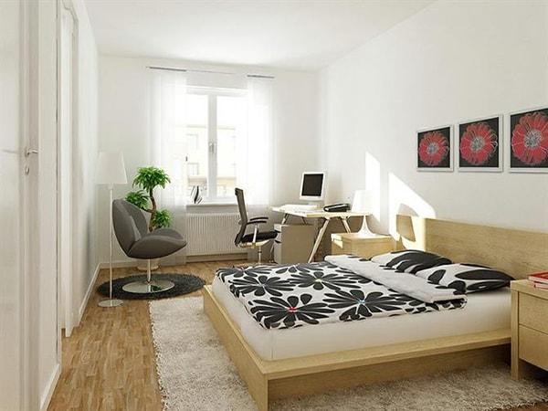 Cách bài trí nội thất cho phòng ngủ chung cư vào mùa lạnh