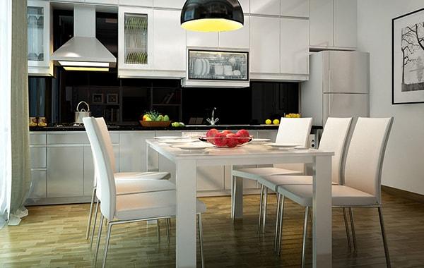 Hãy thiết kế phòng ăn với những gam màu sáng