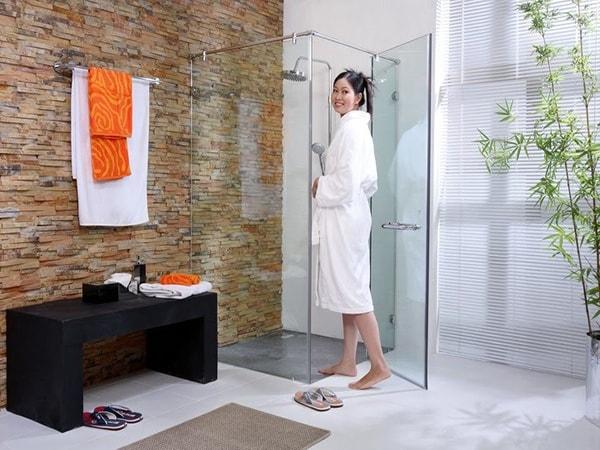 7 ý tưởng thiết kế mới cho vách ngăn phòng tắm năm 2017