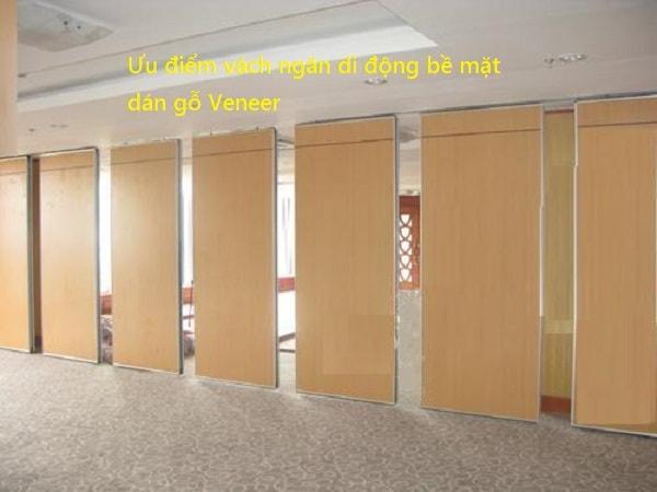 Hệ thống vách ngăn di động gỗ Veneer rất tiện lợi cho việc di chuyển và tháo lắp