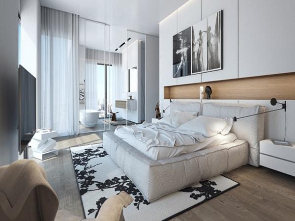 Có nên chọn vách ngăn nhôm kính cho phòng ngủ hay không?