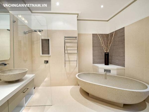 Những vách ngăn phù hợp cho nhà tắm, nhà vệ sinh