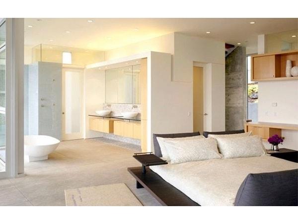 Cách bố trí nhà vệ sinh trong phòng ngủ khoa học và hợp phong thủy