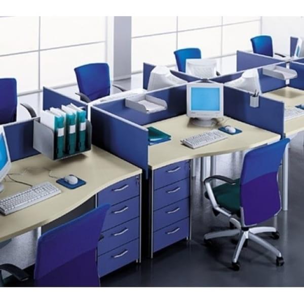 Vách ngăn gỗ kết hợp nỉtạo không gian yên tĩnh tăng tính tập trung và tư duy cho nhân viên