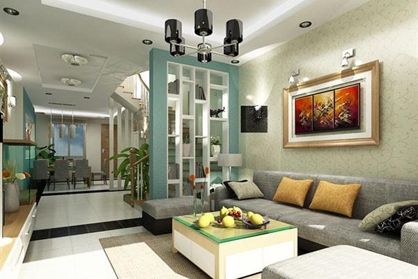 Thiết kế trần và sàn phòng khách không thể bỏ qua yếu tố phong thủy