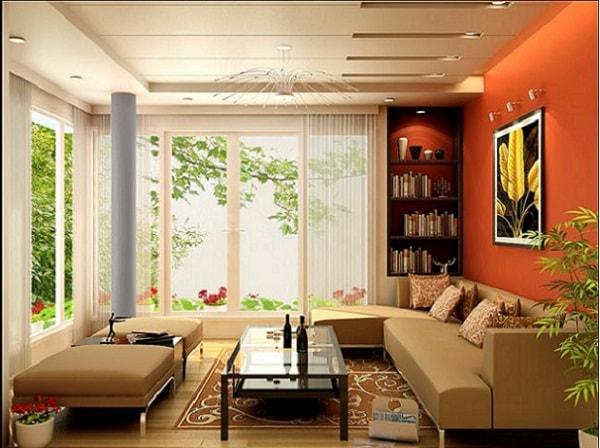 Nội thất phù hợp góp phần làm không gian phòng khách nhà ống thêm đẹp mắt