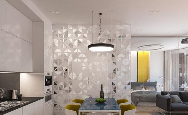 Mẫu vách ngăn bằng kính sang trọng dành cho phòng khách và phòng ăn