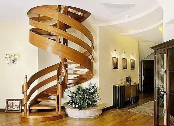 Cầu thang dạng xoắn được đánh giá là không tốt cho những người trong nhà