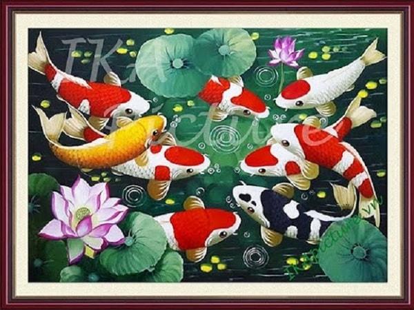"""Tranh """"Cửu ngư"""" hợp với người sinh vào mùa hạ hoặc mùa thu"""