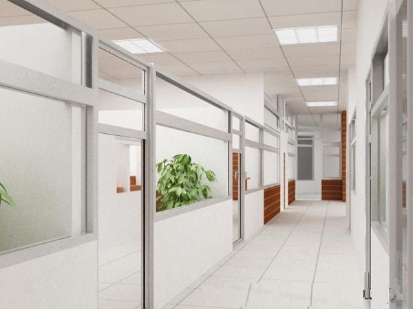 Vách ngăn văn phòng bằng kính được sử dụng rộng rãi